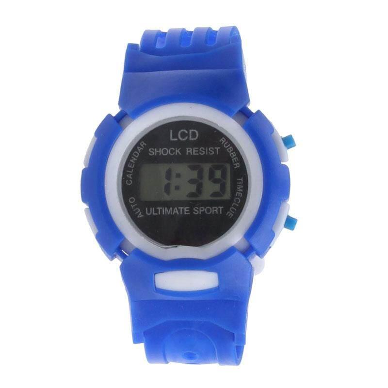VRE Whatch Toko Boys Gadis Mahasiswa Waktu Olahraga LCD Digital Elektronik Jam Tangan Hitam-Internasional