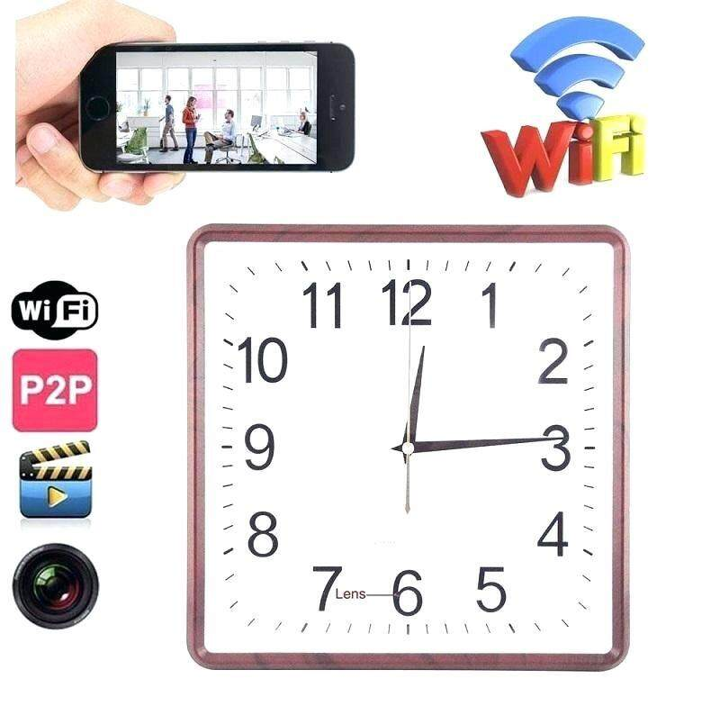 P2P WiFi Wall Clock Spy Camera H.264 Video Recorder 90 degree Angle