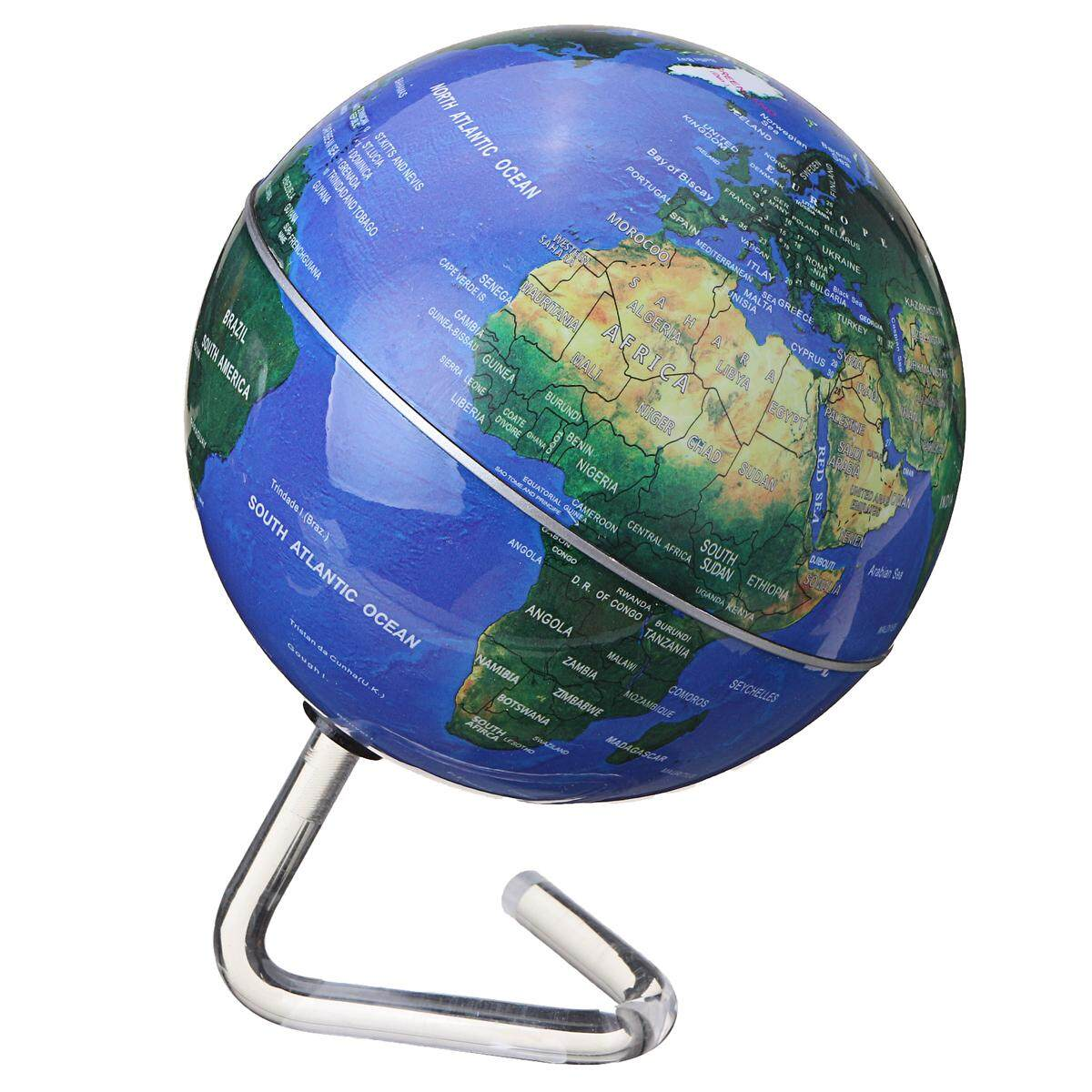 Rotating Desktop Globes Earth Ocean Globe World Geography Table Decor By Teamwin.