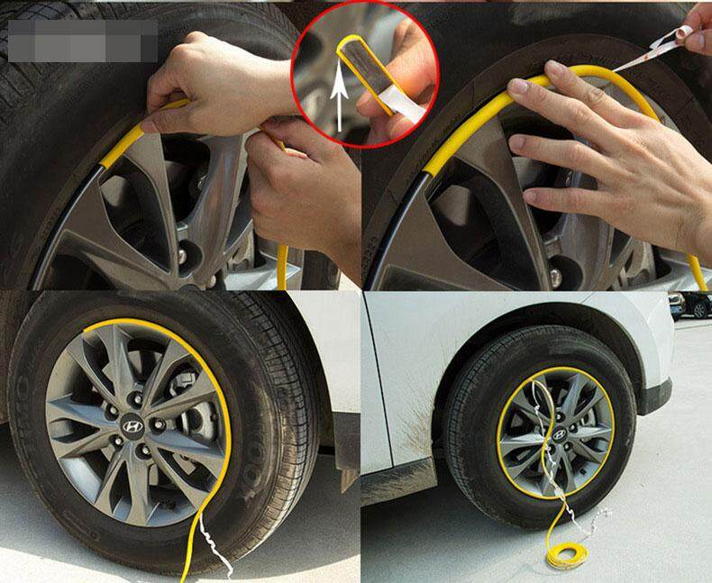 Bn 8 M Rroll Car Wheel Hub Adornment Article Protect Stickers For Universal Use By Baicheng Fashion.