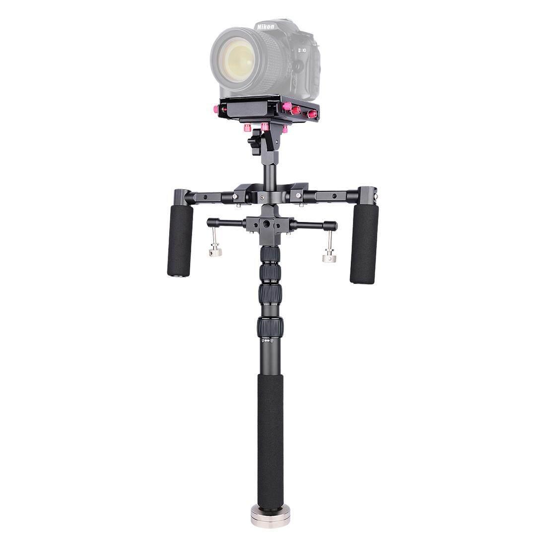 Yelangu S300 4 In 1 Multifungsi Rig + Dual Genggam Bahu Rig + Monopod + Stabilizer untuk Canon, SONY, Panasonic, Nikon DSLR dan Mirrorless Kamera