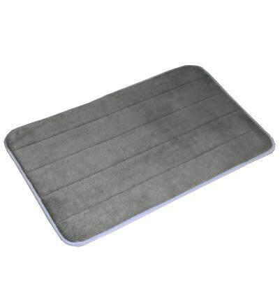 2 Pcs Set 40x60cm Absorbent Soft Memory Foam Mat Bath Bathroom Rug Shower Non-slip Floor Carpet