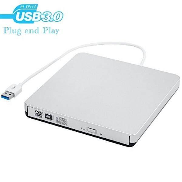 Eksternal Drive CD, USB 3.0 Portable CD DVD Burner Writer Pemutar Perangkat, kecepatan Tinggi Transfer Data untuk Laptop/Desktop/MacBook/MAC OS/Windows10/8/7/ xp/-Intl