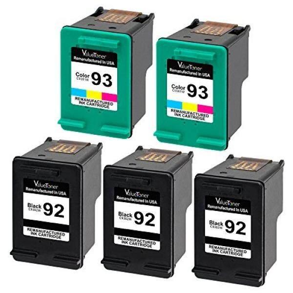 Valuetoner Valuetoner Remanufactured Ink Cartridges Replacement for HP 92 & HP 93 C9362WN C9361WN (3 Black, 2 Tri-Color) 5 Pack for HP Deskjet 5440 5420, Photosmart 7850 C3150 C3135 C3180, PSC 1510 2525 Printer - intl