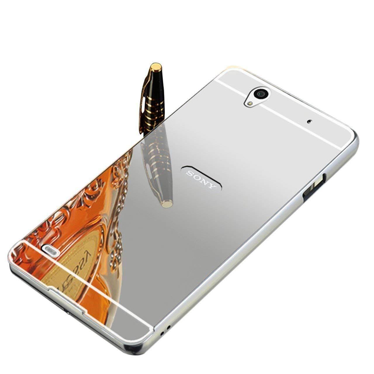 For Sony Xperia C4 Mirror Ultra Slim Metal Aluminum Bumper Frame Hard Cover Case