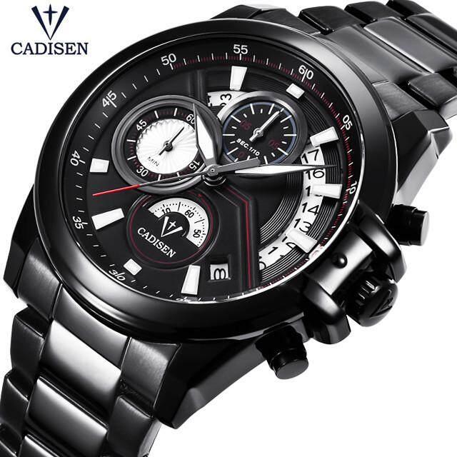 CADISEN Watch Top Brand Luxury Men Sport Quartz Clock Mens Fashion Business Full Steel Waterproof Watch Malaysia