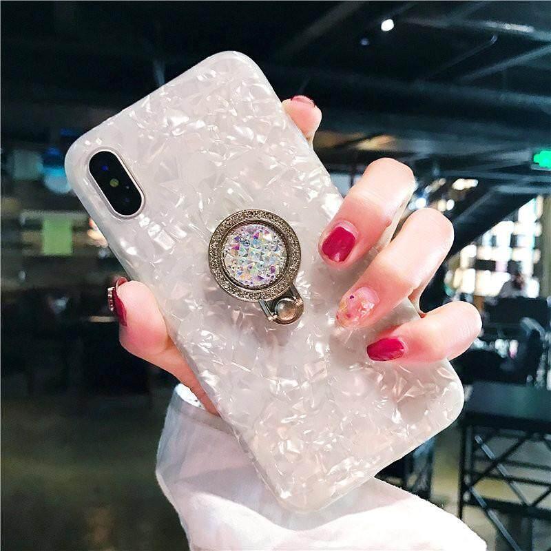 Fishion Merek Glitter Casing Ponsel untuk Apple iPhone 6/54 S Dream Shell Pola Case