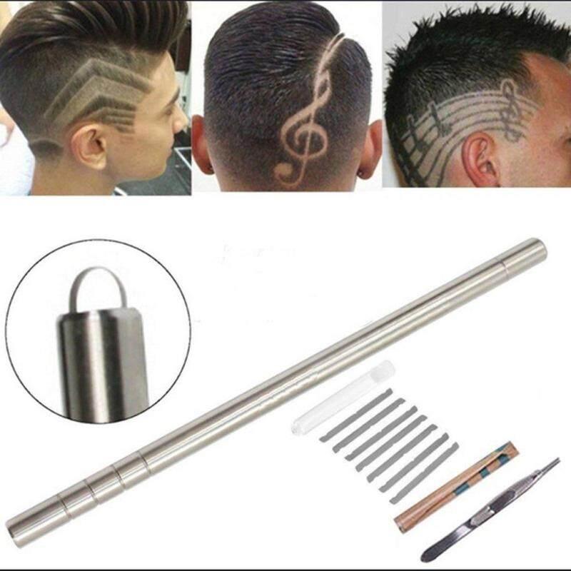 BELLE Hair Engraving Pen Hair Trimmers Engraved Razor Pen Eyebrows Tweezers Set nhập khẩu