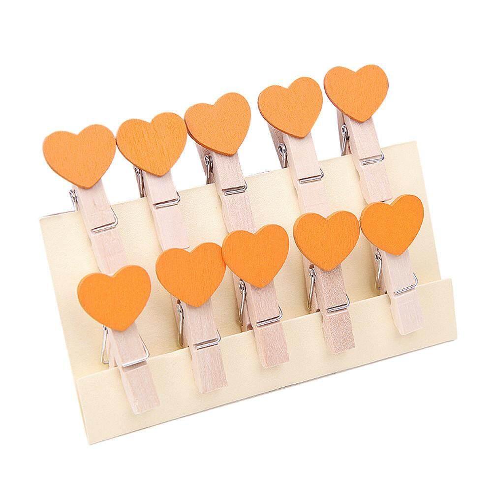 Osbornshop 10 Pcs Klip Dekorasi Dinding DIY Bingkai Kreatif dengan Mini Berwarna Clothespins-Intl