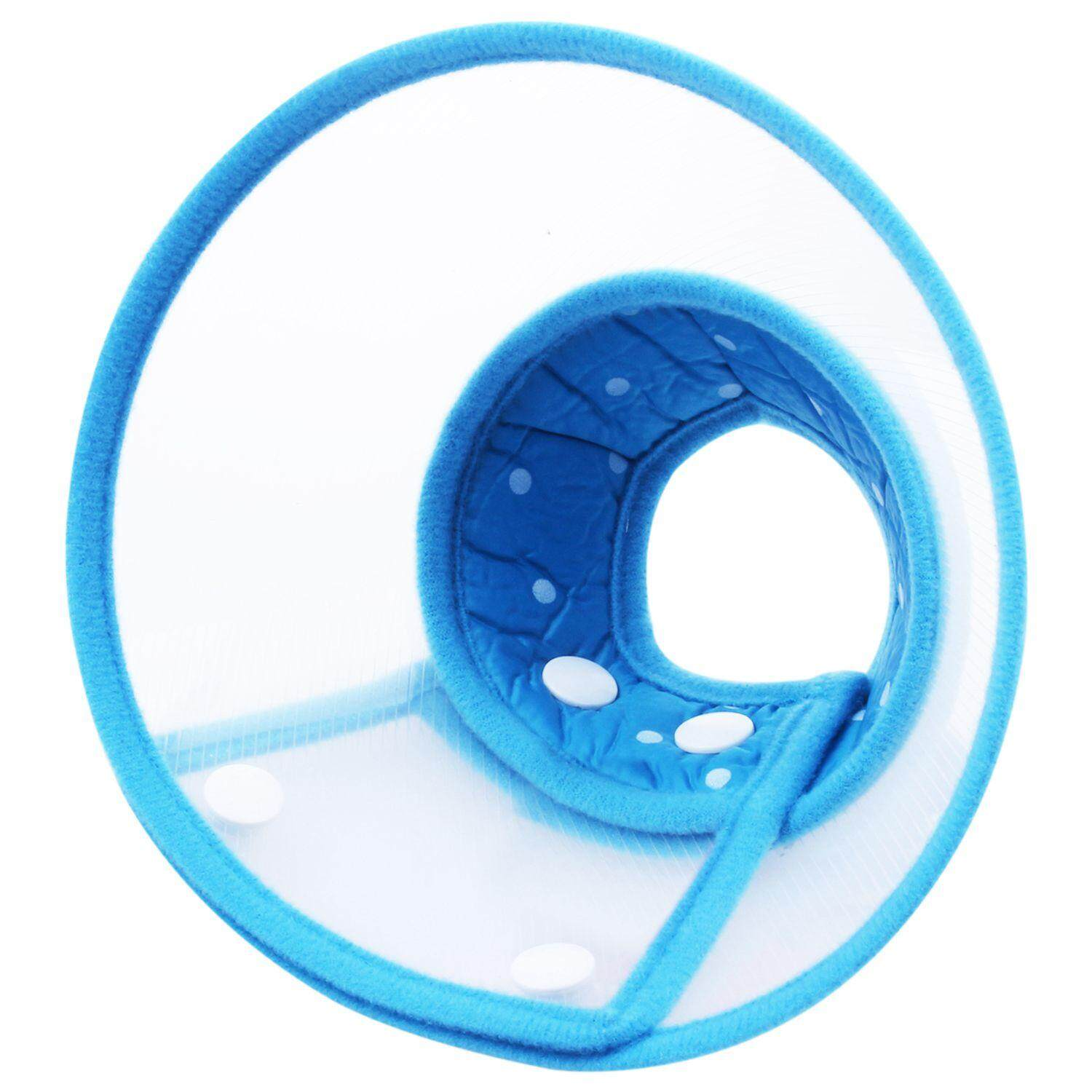 Dog Cat Elizabethan Non-Toxic Medical Wound Healing Cone Pet Anti Bite Collar, S, Blue By Yoyonow.