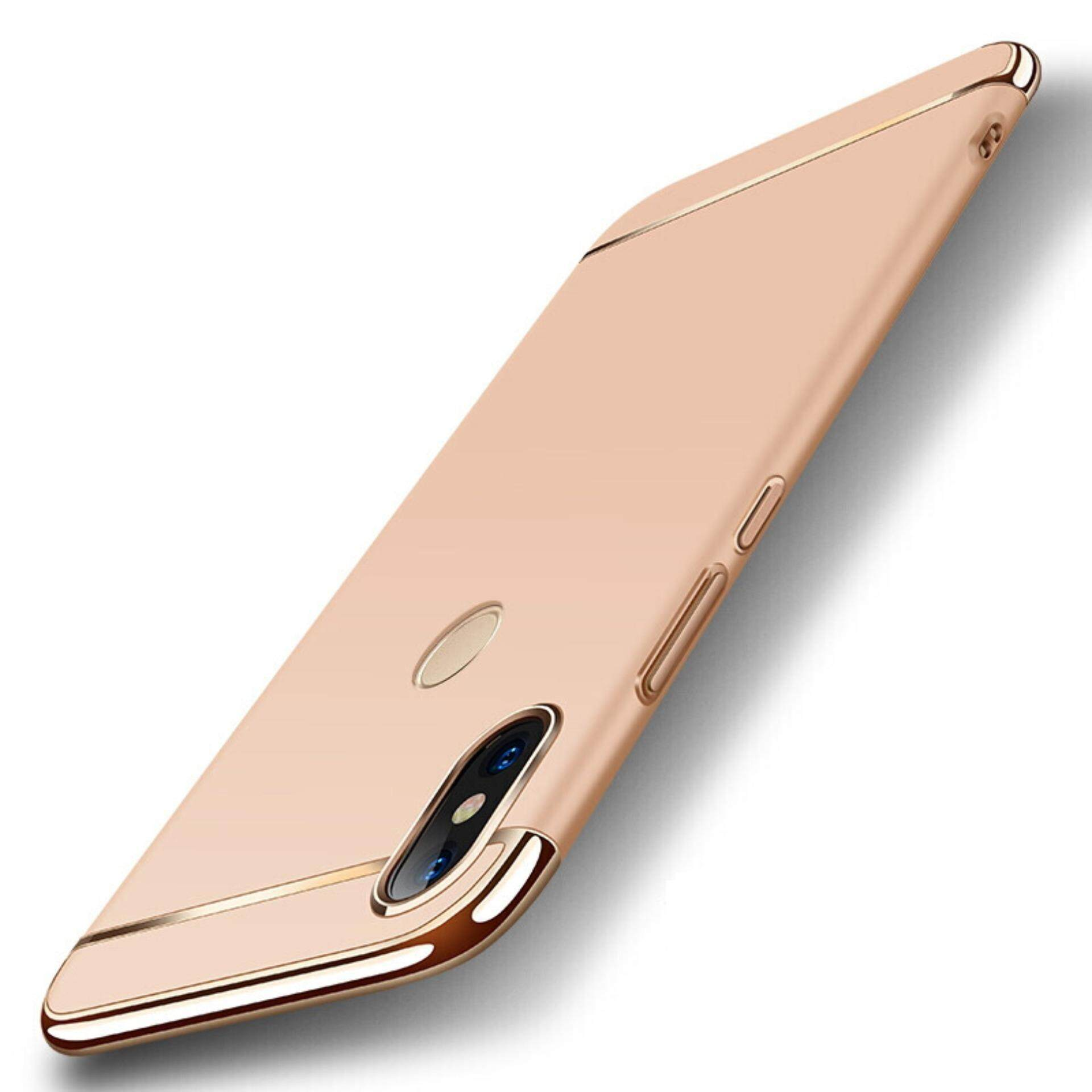 3in1 Ultra-thin Electroplated PC Back Cover Case for Xiaomi Redmi Note 5 Pro -