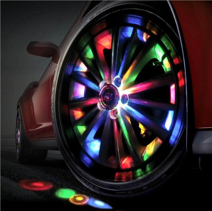 4 Pcs Auto Universal Energi Surya Flash Lampu LED Ban Roda Mobil Aksesoris Lampu Pelek Angin Api Roda Lampu LED Kualitas Tinggi