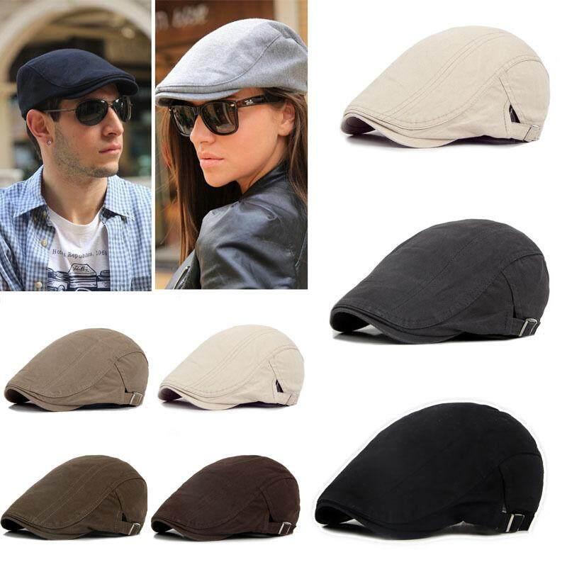 e7ddd40ad5019 New Men s Ivy Hat Berets Cap Golf Driving Sun Flat Cabbie Newsboy Cap -Fashion