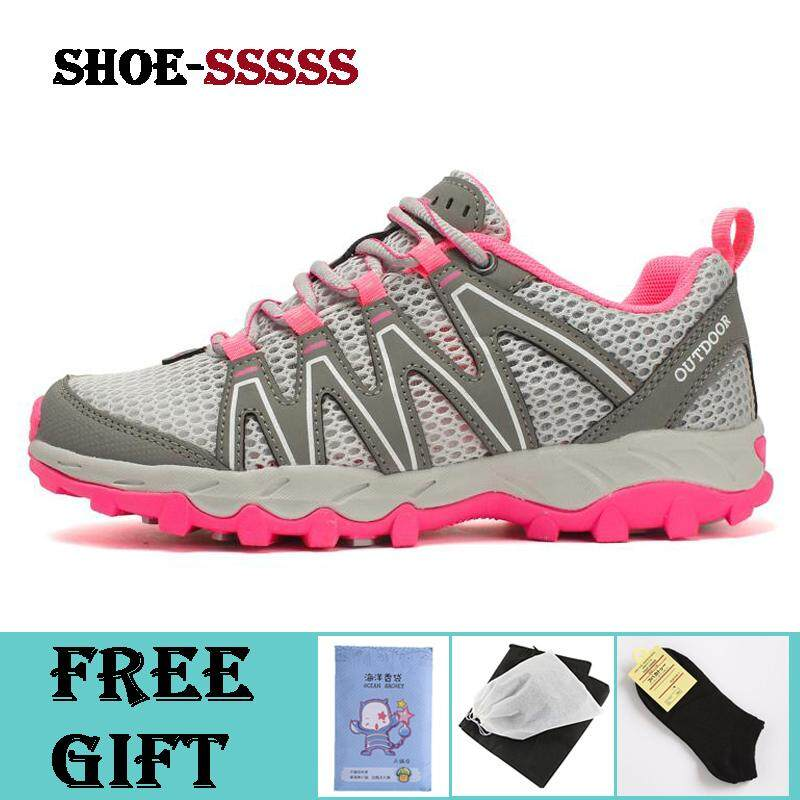 929a52185ca Women Waterproof Hiking Shoes Trekking Trail Mesh Climbing Sneakers Outdoor  Breathable Hollow Out Sport Shoes Creek