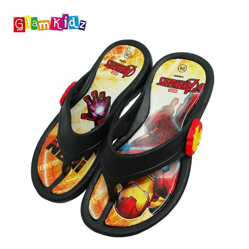 Marvel Avengers Iron Man Kids Slipper Children Shoes Sandals Sports Flip Flops #2565