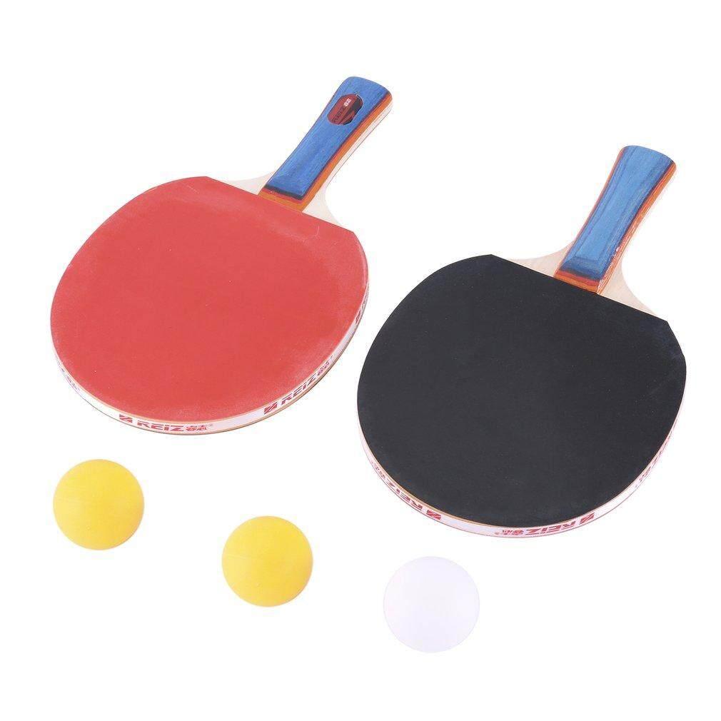 Hình ảnh REIZ Table Tennis Racket Set Short Or Long Handle Ping Pong Paddle + 3pcs Ball