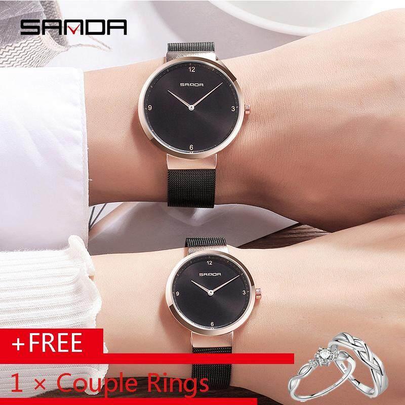 SANDA Ultrathin Watch Ladies Bracelet Watches Luxury Brand for Women Men Simple Style Fashion Couple Wristwatch