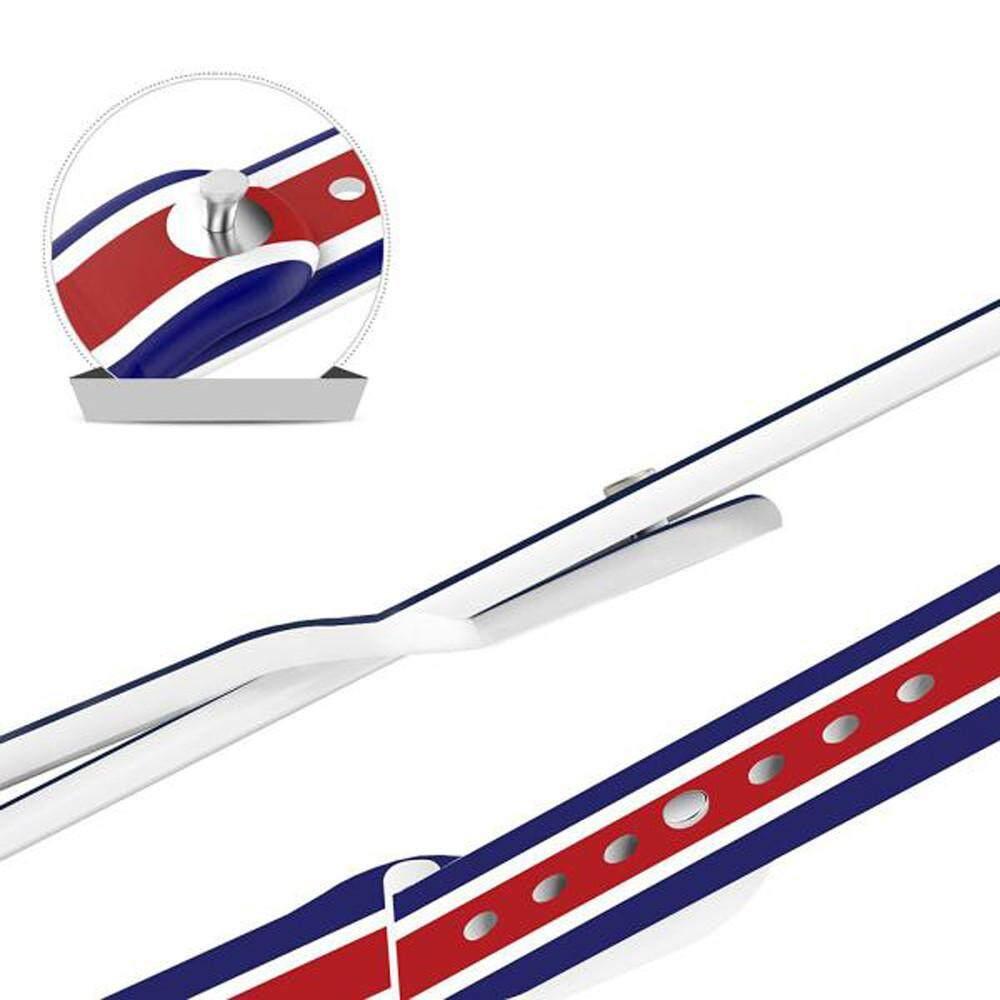 Fanestiy Bendera Inggris Silikon Olahraga Tali Jam Gelang Band untuk Apple Watch Seri 1/2
