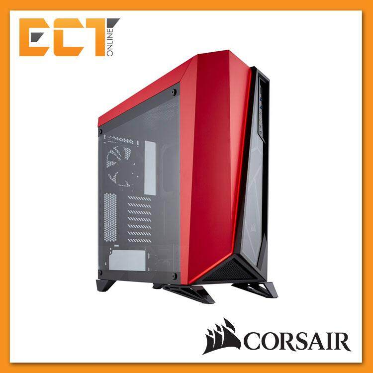Corsair Carbide Series SPEC-OMEGA Tempered Glass Mid-Tower ATX Gaming Case - Black & White/ Black & Red Malaysia
