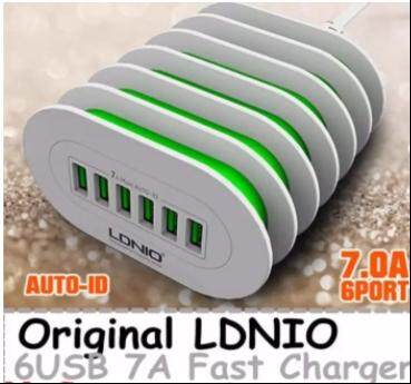 Original LDNIO A6702 6 USB Port 7A Fast Charger Phone Charger