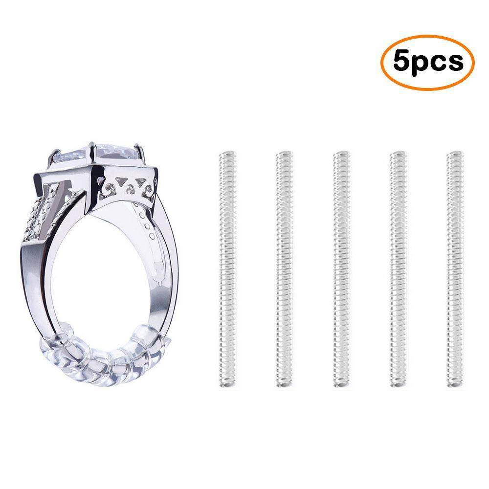 leegoal 5pcs Ring Size Adjuster Clear Snuggies Insert Guard Tightener Reducer Resizing Fitter - intl