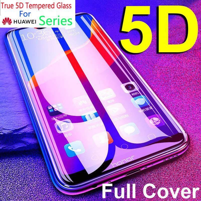 Untuk Huawei P20 P10 PLUS NOVA 2i 3 3i 3E Honor 8X 9i Play Mate 20 Pro 20X Perlindungan Menyeluruh Kekerasan 9 H anti Gores 5D Kaca Antigores Pelindung Layar Film