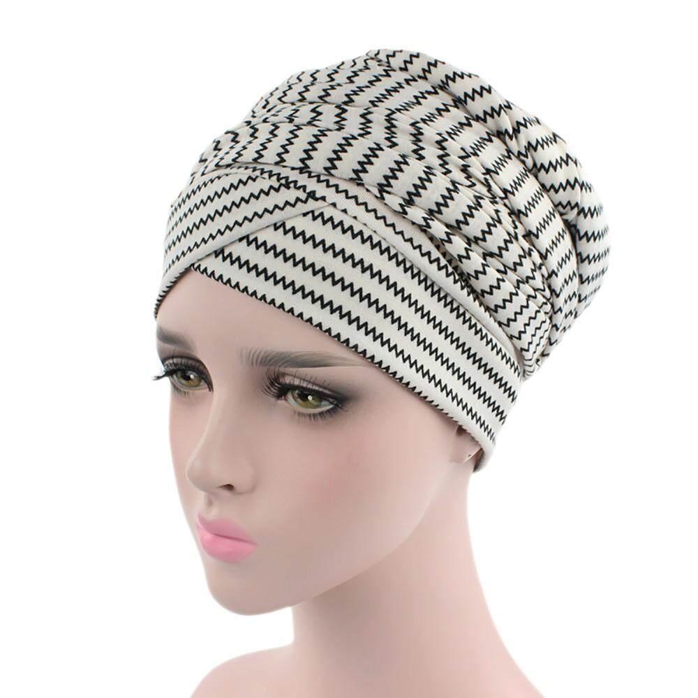 4a373f0a36d1be Women India Muslim Elastic Turban Print Long Tail Hat Head Scarf Wrap  Stinsonshop - intl