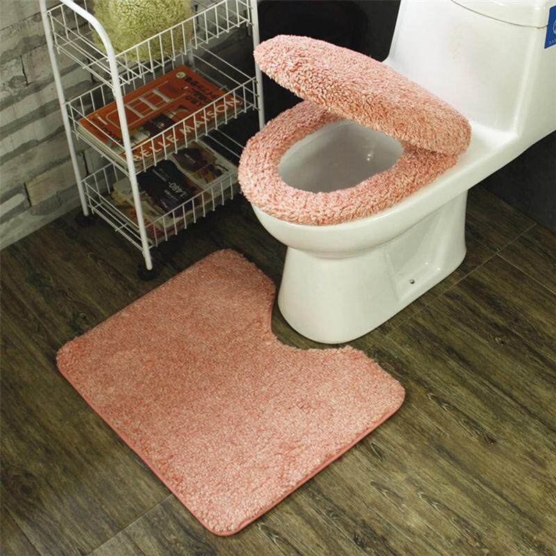 Household Toilet Cover Foot Pad Toilet Seat Cover Decorations Bathroom Set  Toilet Foot Mat By Glimmer.