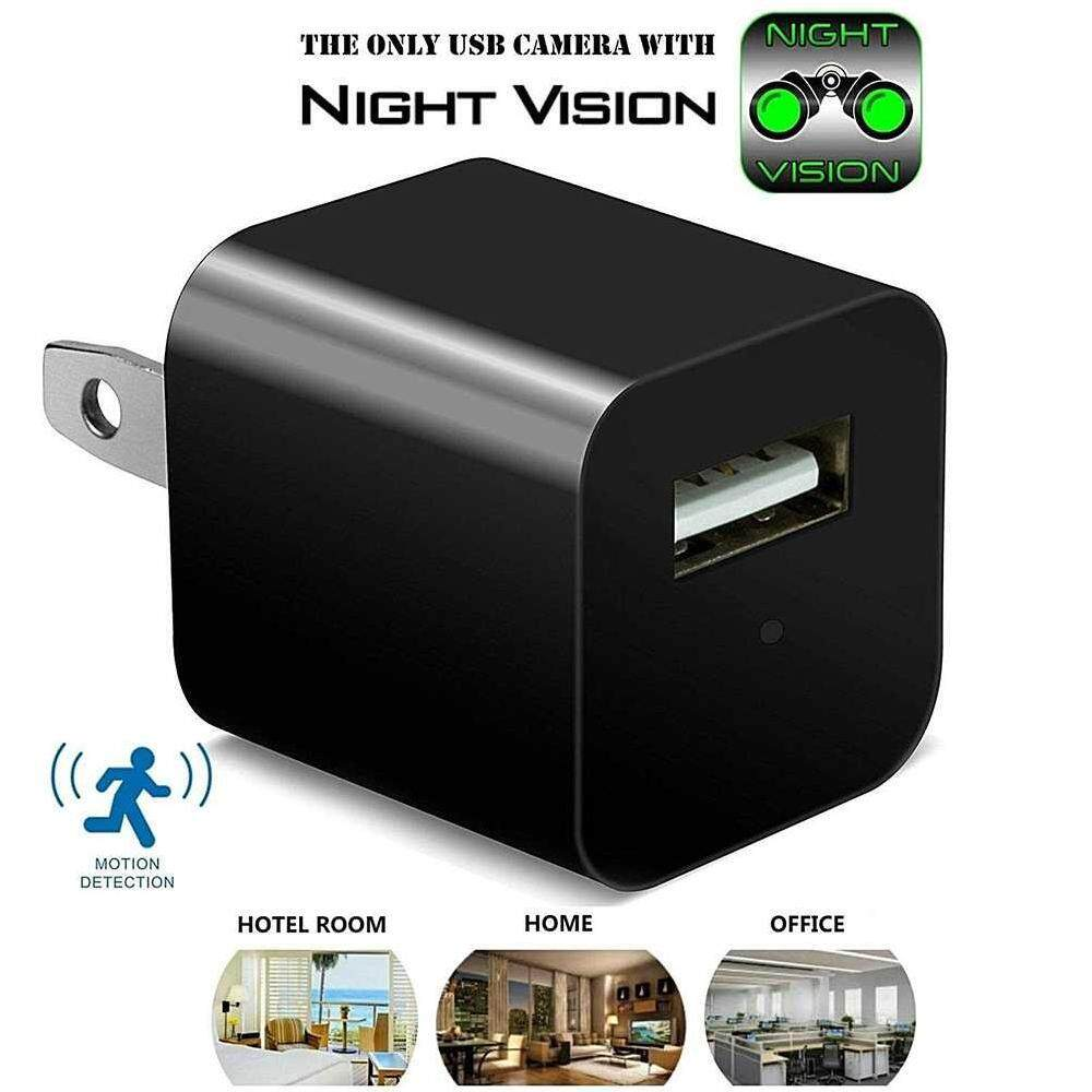 Fuan S2 1080P WiFi Usb Wall Charger Spy Camera Adapter Hidden Micro Cam  Motion Detection DV 997206f679