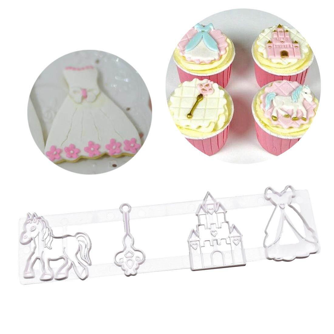 ... 3D Dekorasi Kunci Kuda Bentuk Istana Cokelat Pesta DIY Alat Cetakan Kue Memasak Kue Dekorasi Alat ...