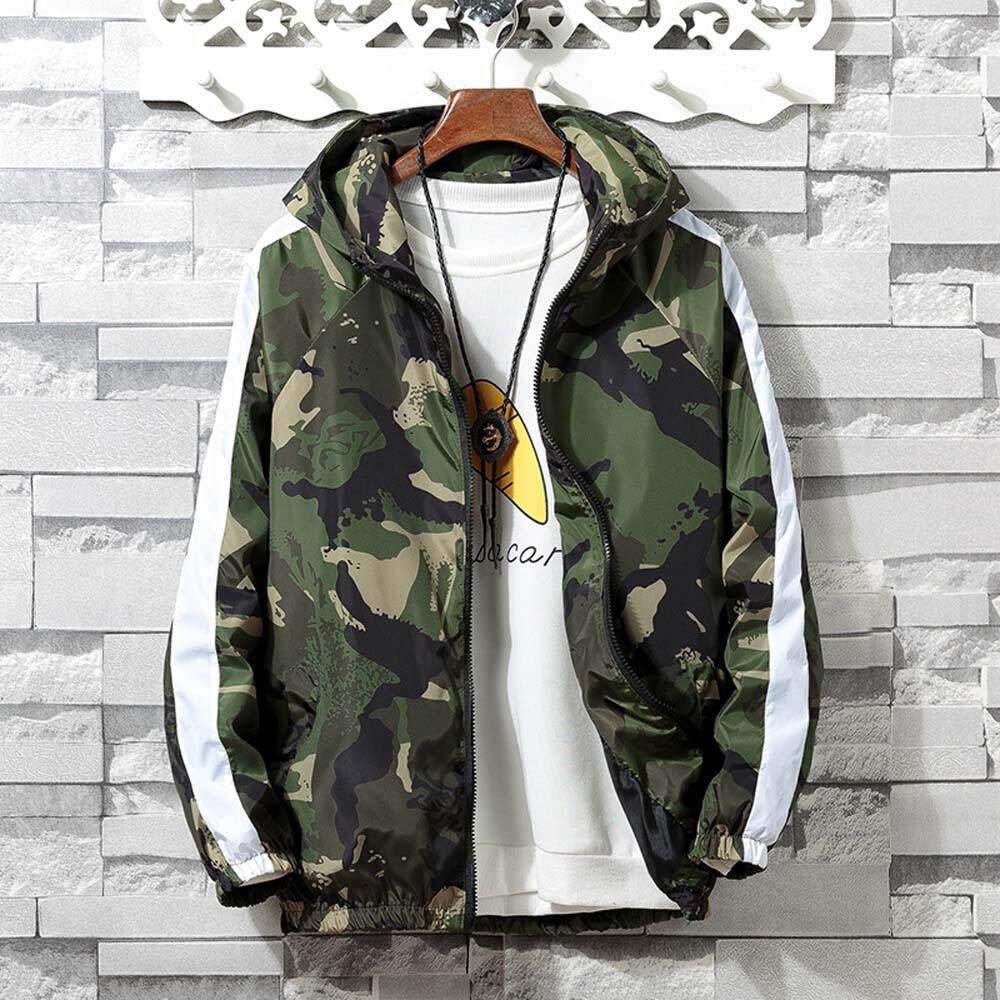 489aefa48ce4c Featured Mens Autumn Winter Zip Camouflage Long Sleeve Pocket Sport Hoodies Jacket  Coat
