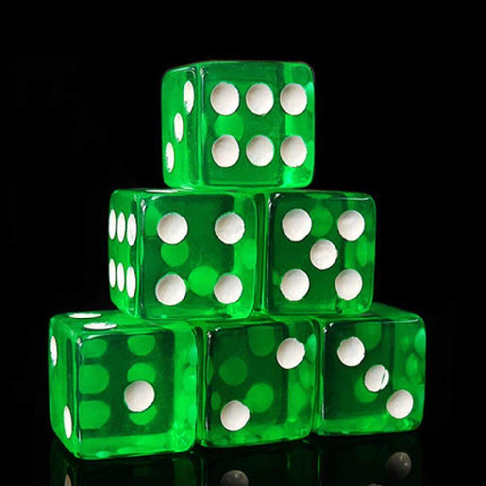 Hình ảnh 10Pcs 16mm Cube Transparent Colorful Exquisite Game Dice - intl