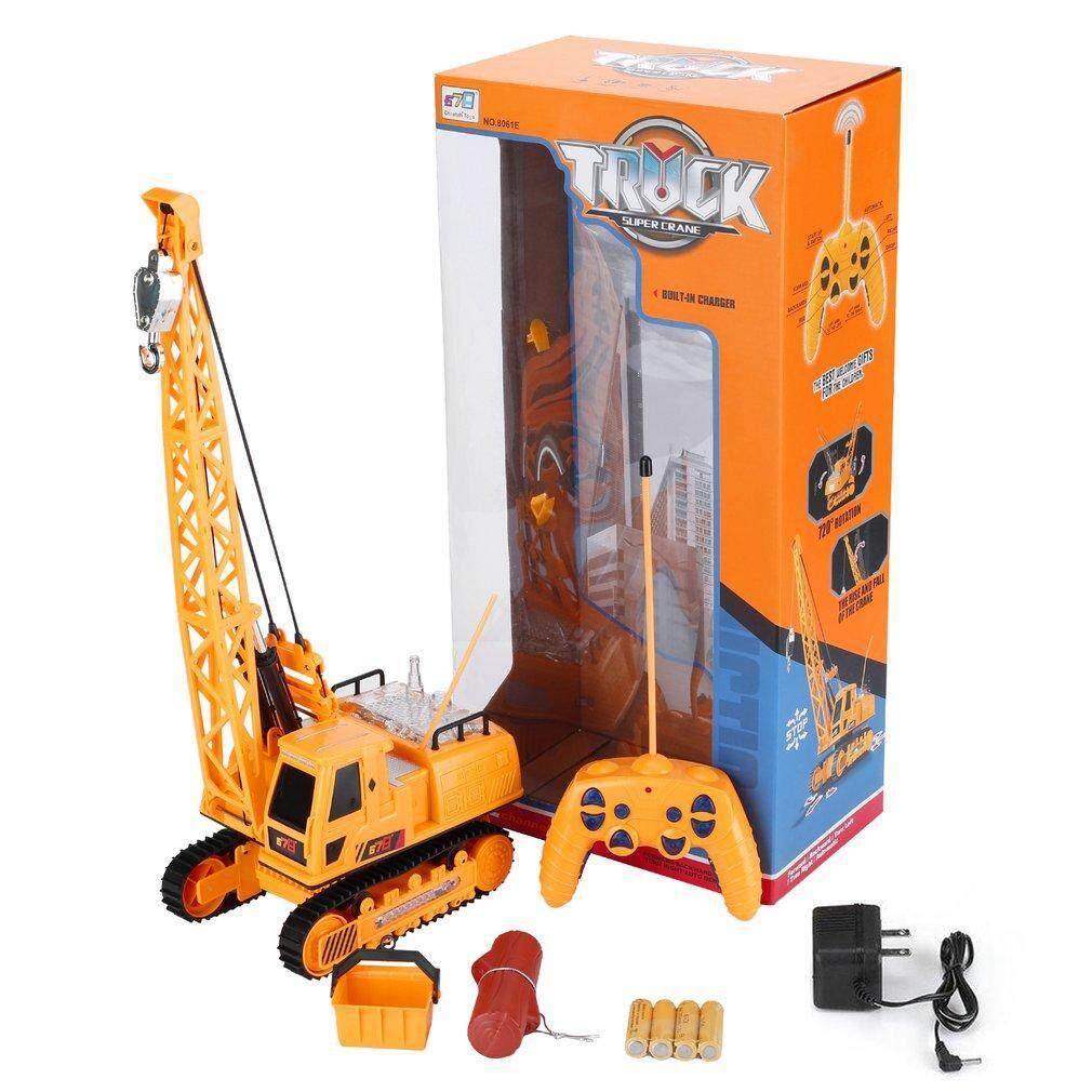 12 Ch RC Excavator Teknik Listrik Kendaraan dengan Musik Ringan Mainan Penggali