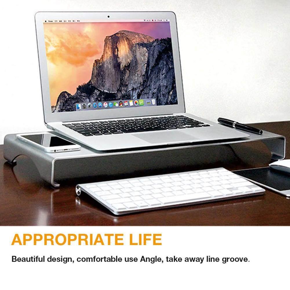 BH Portabel Dudukan Komputer Aluminium Meja Penyangga Laptop Dock Pemegang Bracket untuk Apple iMac/Tablet/Macbook Pro/PC/Notebook Dasar