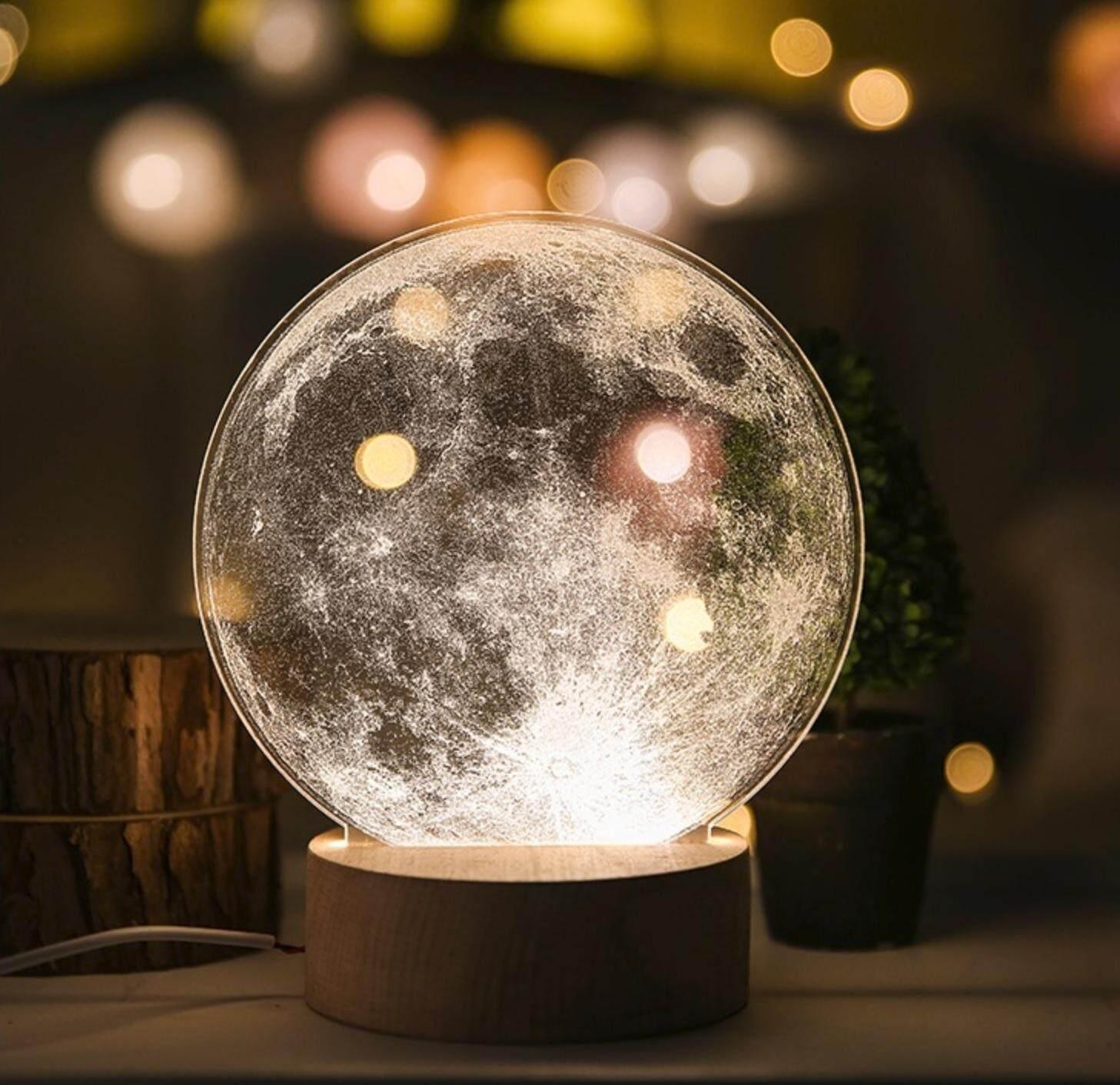 3D Optical Illusion LED Table Night Light(Earth)