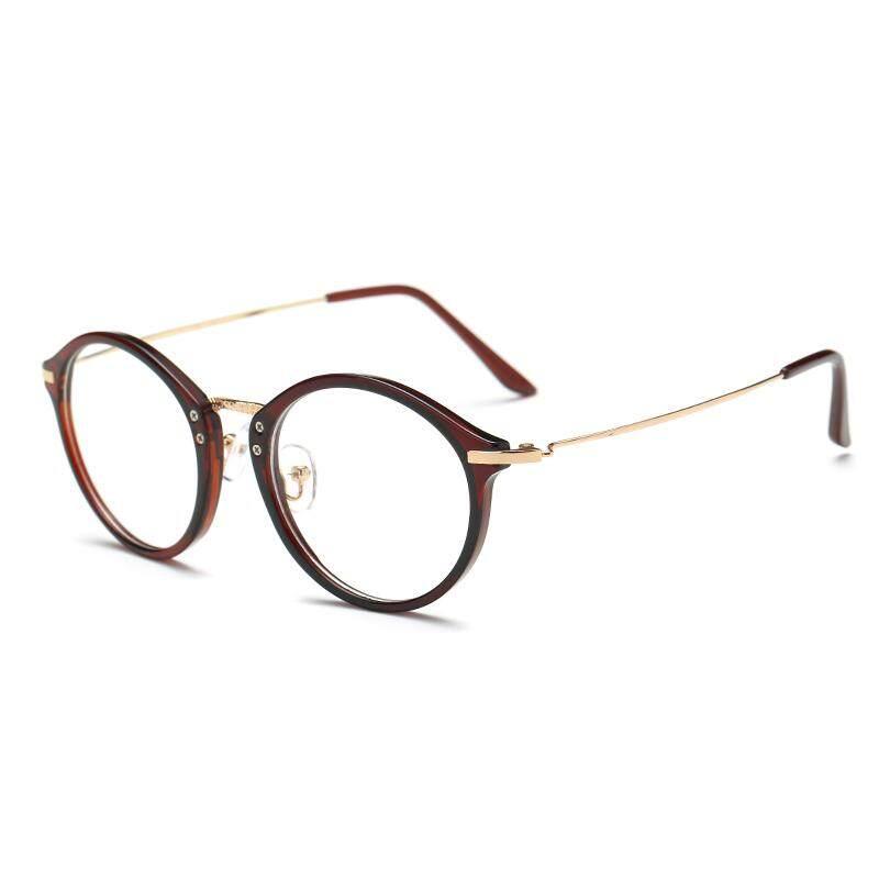 Bingkai kacamata wanita Gaya Korea pasang wajah bulat Retro dengan derajat rabun  dekat produk jadi kacamata 1f3ded357b
