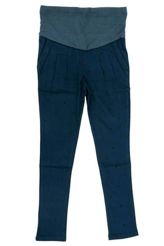 ... Pregnant Women Abdominal Maternity Pants Belly Leggings Trousers XL dark green - 3 ...