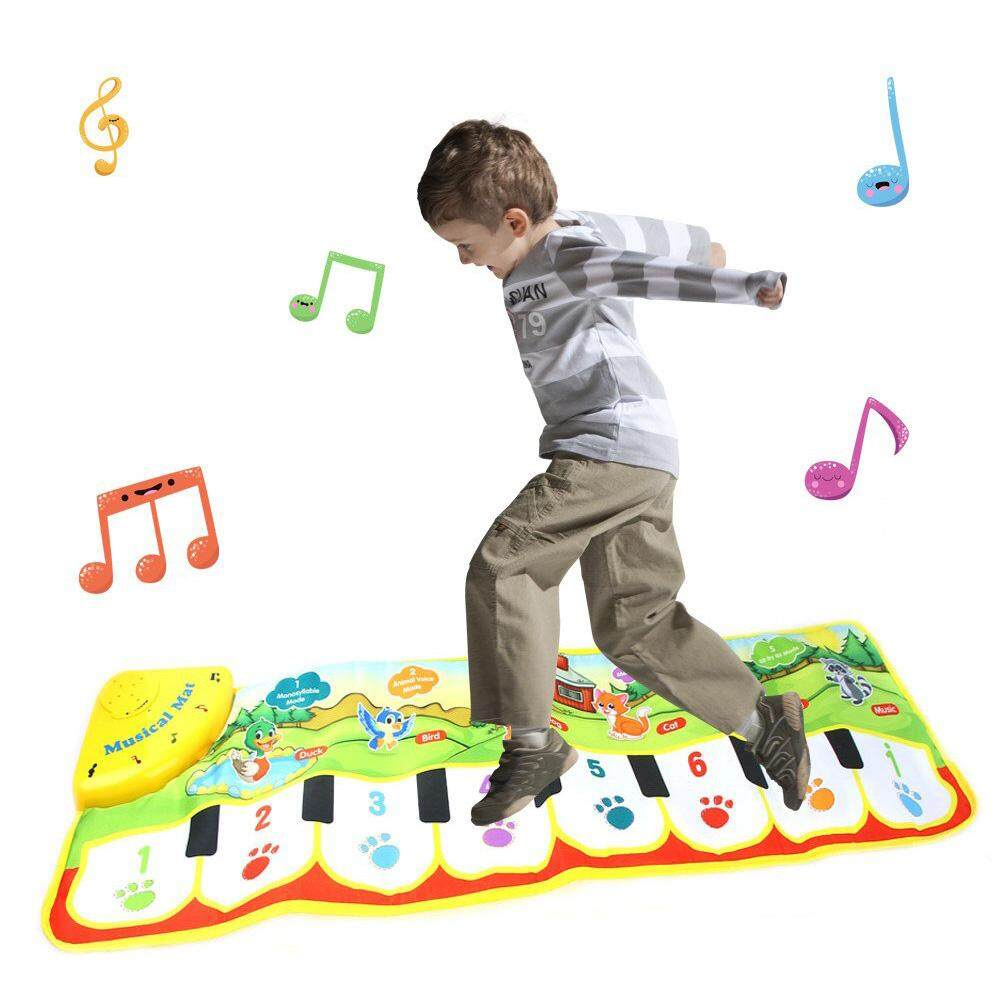 Aolvo Piano Mat, Musical Dance Mat Keyboard For Children With 8 Music Instrument Great Children Toy Gift For Birthday Christmas Festival Baby Touch Play Keyboard Music Singing Gym Carpet Mat 100x36cm By Aolvo.