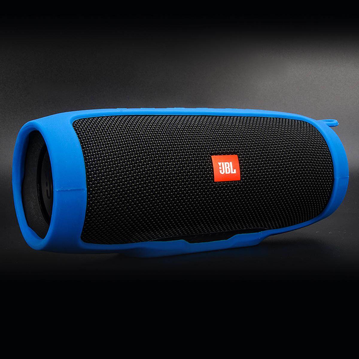 Detail Gambar Soft Silicone Case Cover for JBL Charge 3 Bluetooth Speaker - Blue Terbaru