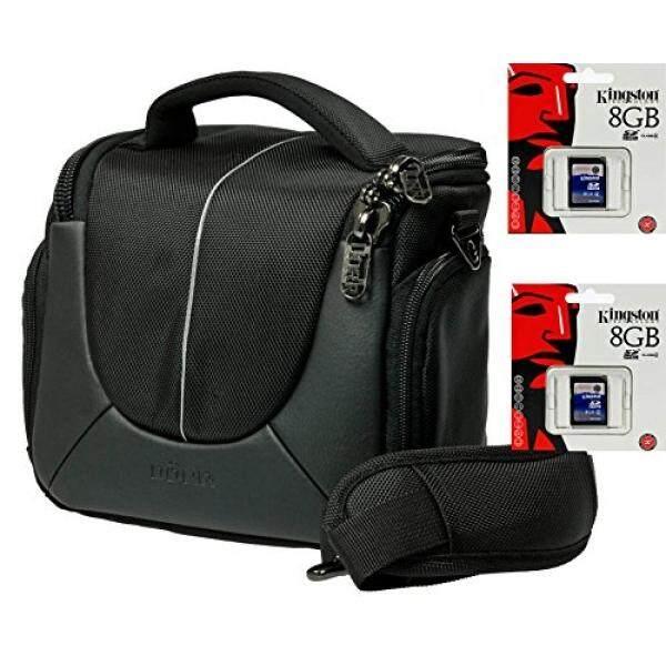 Foto Kamera Tasche Yuma Hitam M Set + Doppelpack 8 GB SD F? R Fujifilm X-A2 X-A1 X-E2 X-M1 FinePix S8600-Intl