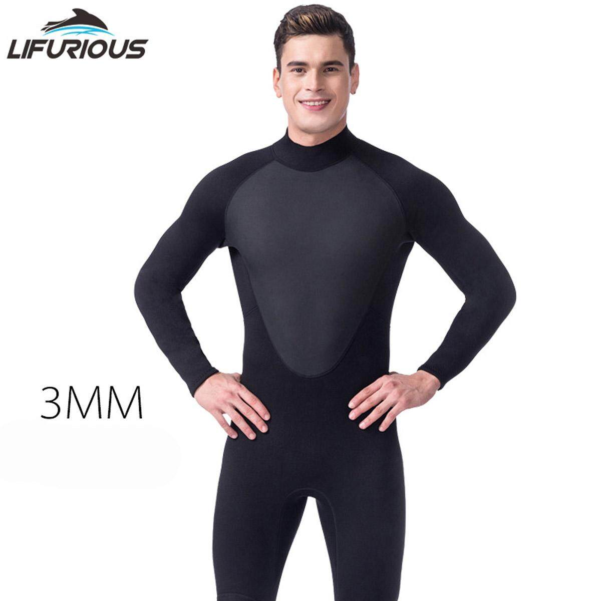 0780193f853 3mm Neoprene Mens Surf Wetsuit for Swimming Diving Equipment One-Piece  Spearfishing Sailing Wet Suits
