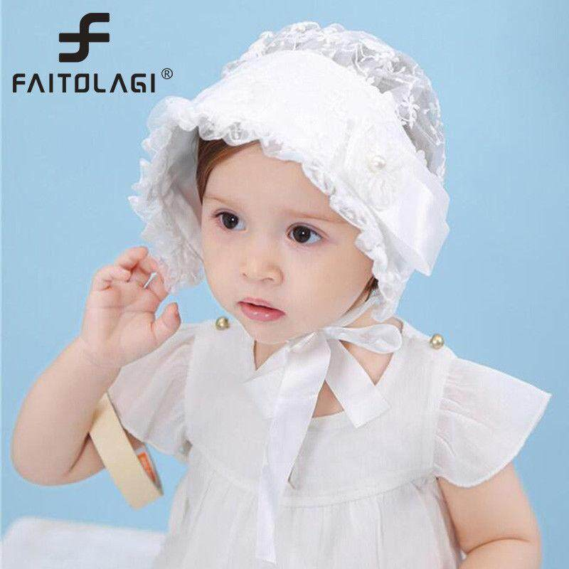 13ec6912835 Baby Girls Vintage Princess Sun Hats Lace Flower Caps Summer Cute Kids Caps  Hats - intl