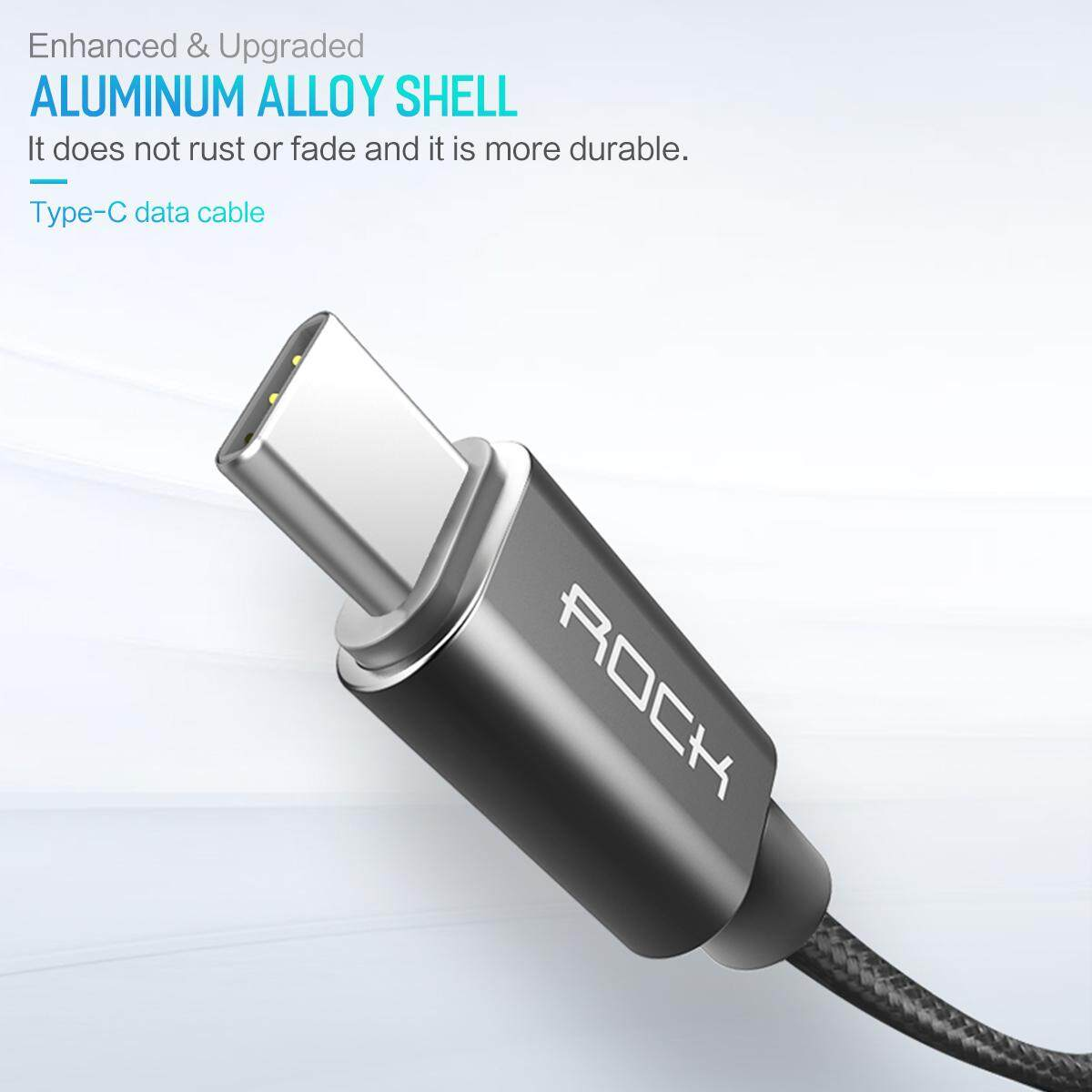 Features Rock Usb Type C Cable Metal Fast Charging Kabel Data Xiaomi For Redmi
