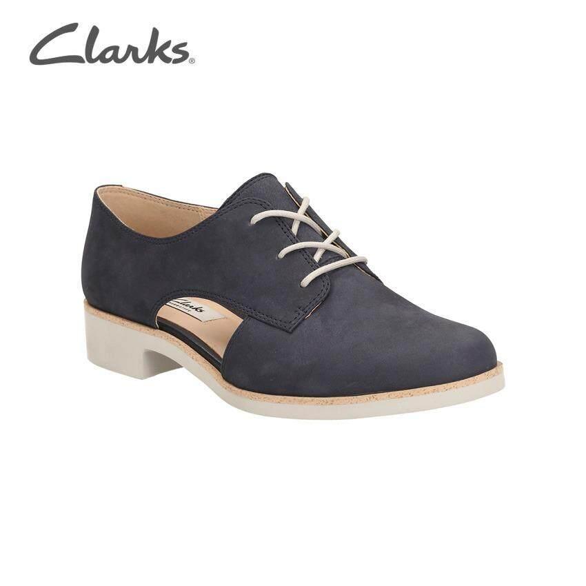 Clarks Hamble Myth Womens Casual Shoes Navy Nubuck