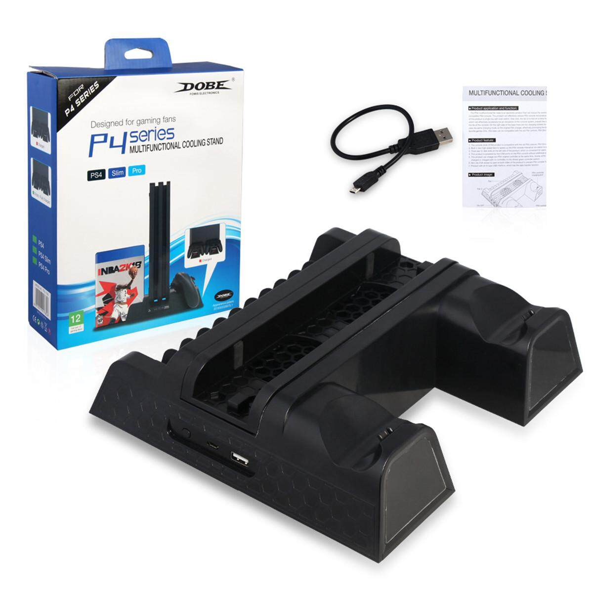 Ps4 Pro Stand Price In Singapore Multifunctional Storage Kit Cooling Fan Station Charger Led Light For Silm Controller