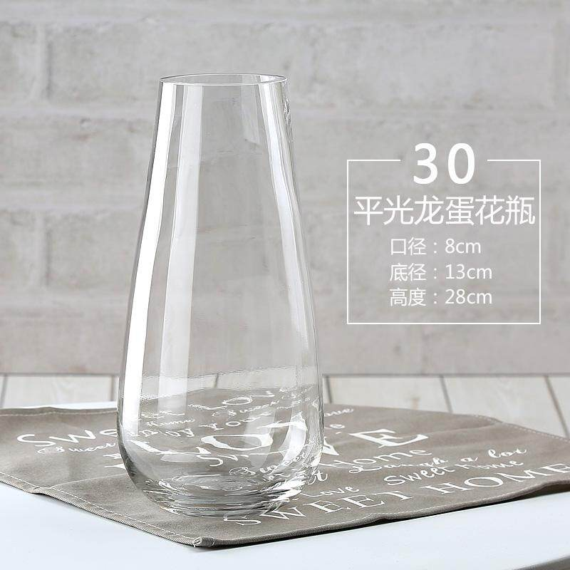 European Style Creative Transparent Glass Vase Large Size FGZ Lily Rose Table Grow in Water Vase Decoration Hipster