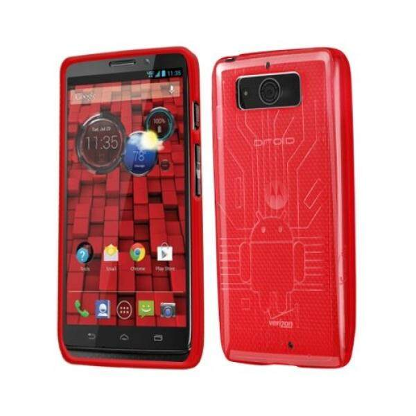 Smartphone Case S Droid Mini Case, Cruzerlite Bugdroid Sirkuit TPU Case Kompatibel untuk Motorola Droid Mini (Akhir 2013) -Merah-Intl