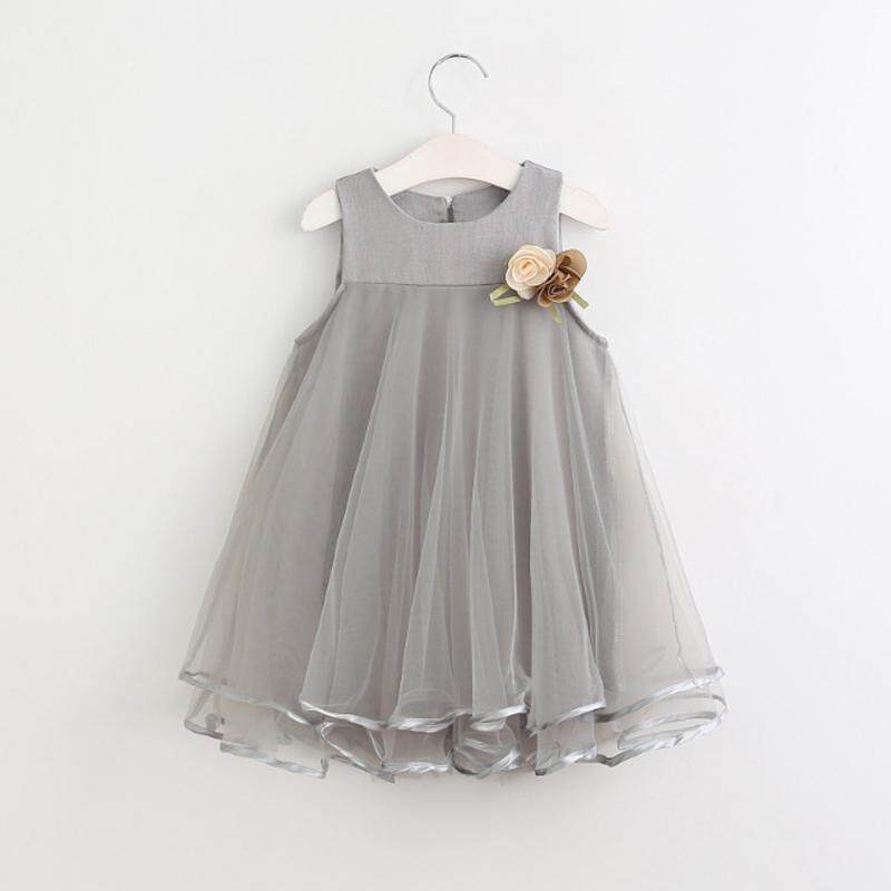 c2a70efaf8def Celmia Flower Girls Princess Kids Baby Party Wedding Pageant Mesh Tulle  Tutu Dresses - intl