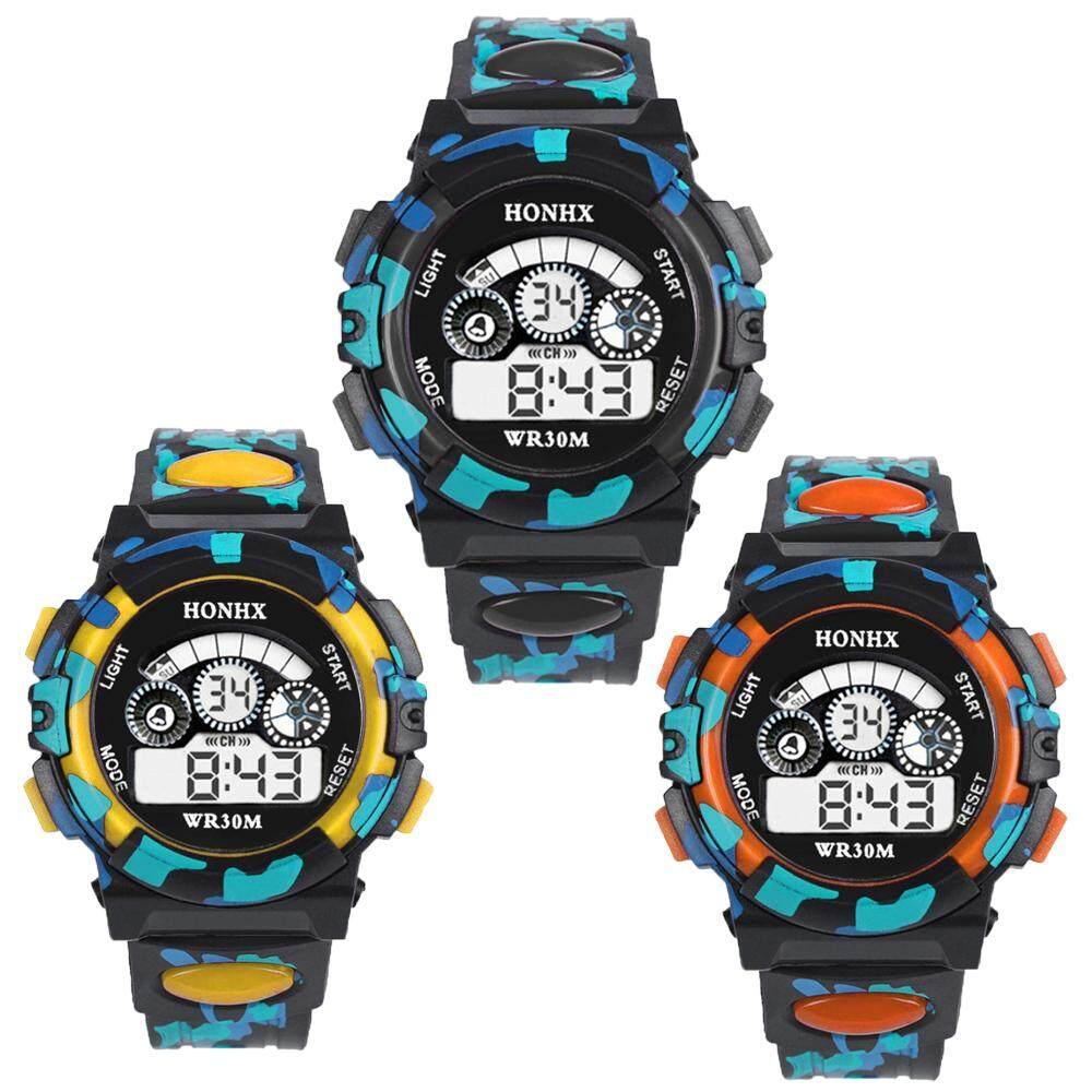 3Pcs/set HONHX Student Multifunctional Sports Waterproof Children Electronic Watch Malaysia