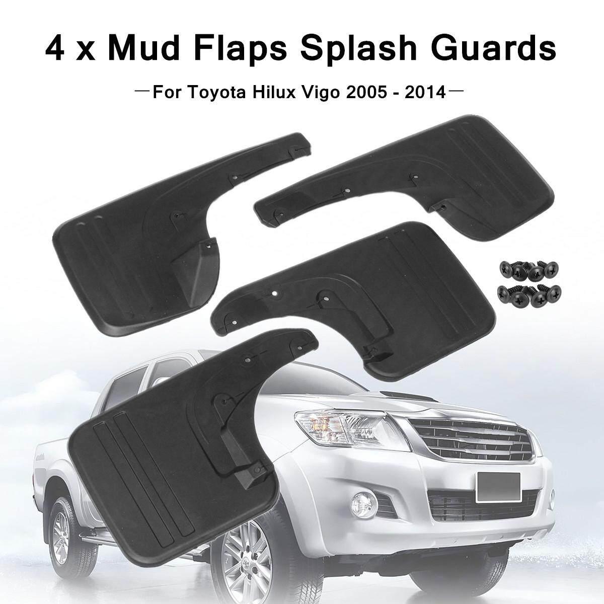 4x Mud Flaps Splash Guards Mudflaps for Hilux Vigo 2005-2014 Front&Rear